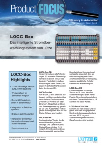 LÜTZE: Product FOCUS -  LOCC-Box