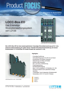 LÜTZE: Product FOCUS - LOCC-Box-ED